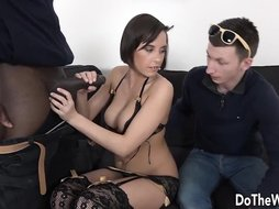 Another cuckold scene that will blow your mind, this wife has a thing for big black dicks