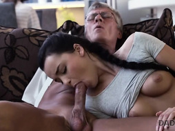 DADDY4K. Trouser Snake of mature daddy pleases girl's need in supreme dicking